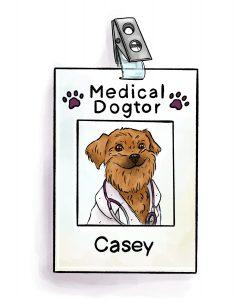 Dr Casey ID badge